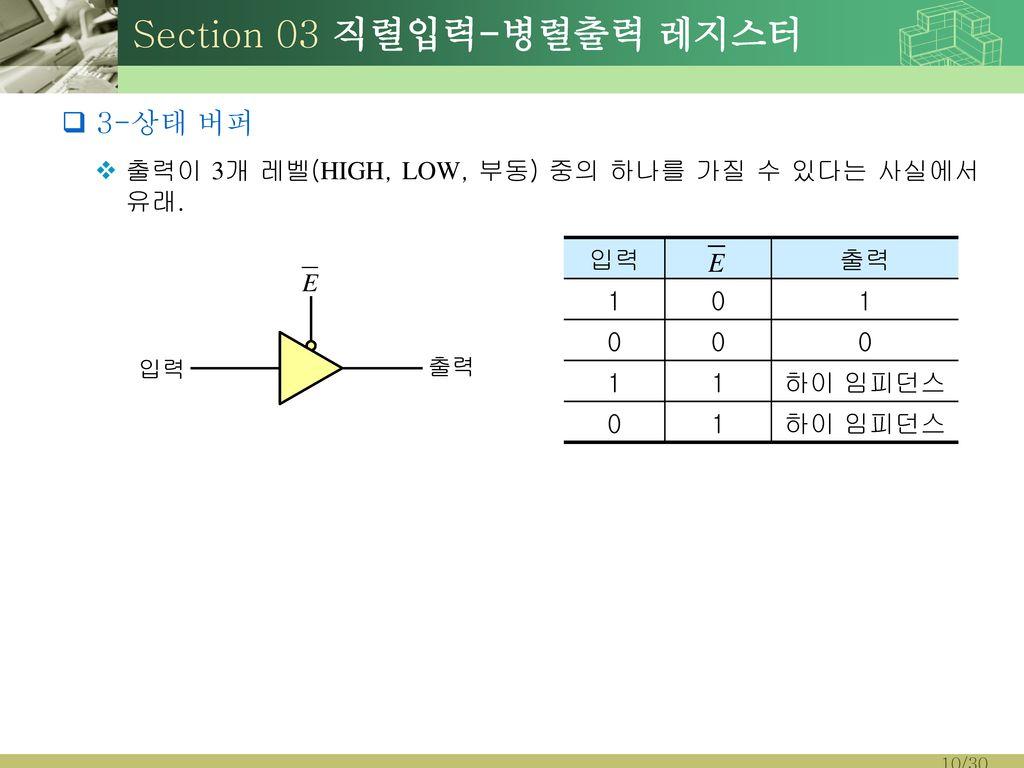 Section 03 직렬입력-병렬출력 레지스터
