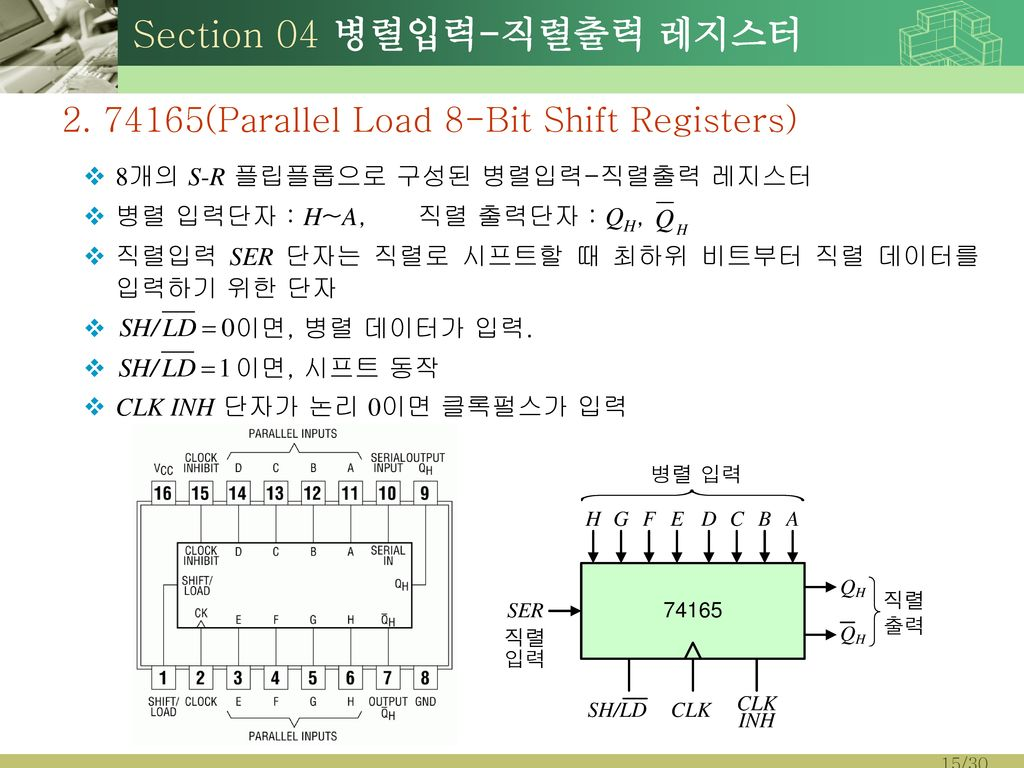 Section 04 병렬입력-직렬출력 레지스터