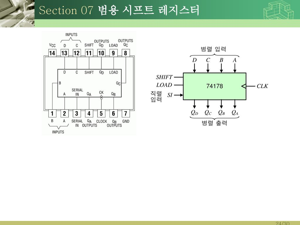 Section 07 범용 시프트 레지스터