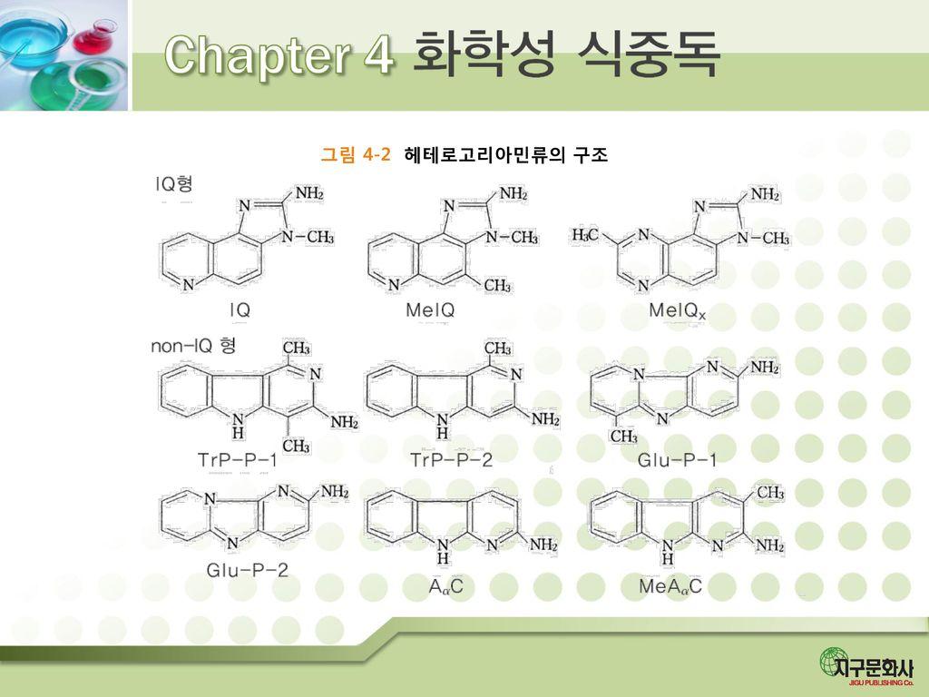 그림 4-2 헤테로고리아민류의 구조