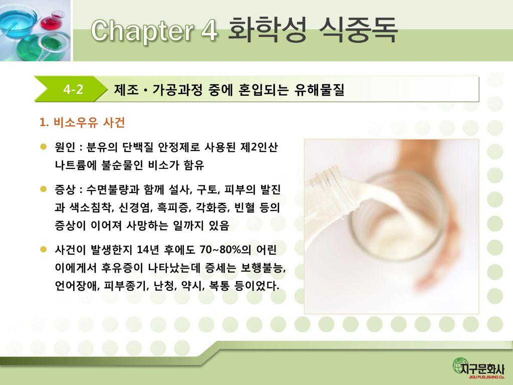 제조ㆍ가공과정 중에 혼입되는 유해물질 4-2 1. 비소우유 사건