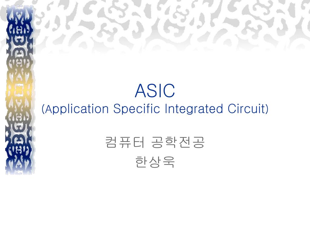 ASIC (Application Specific Integrated Circuit)