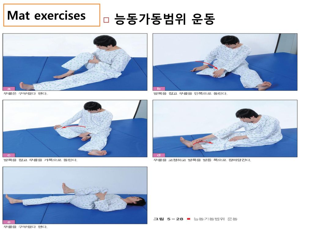 Mat exercises 능동가동범위 운동