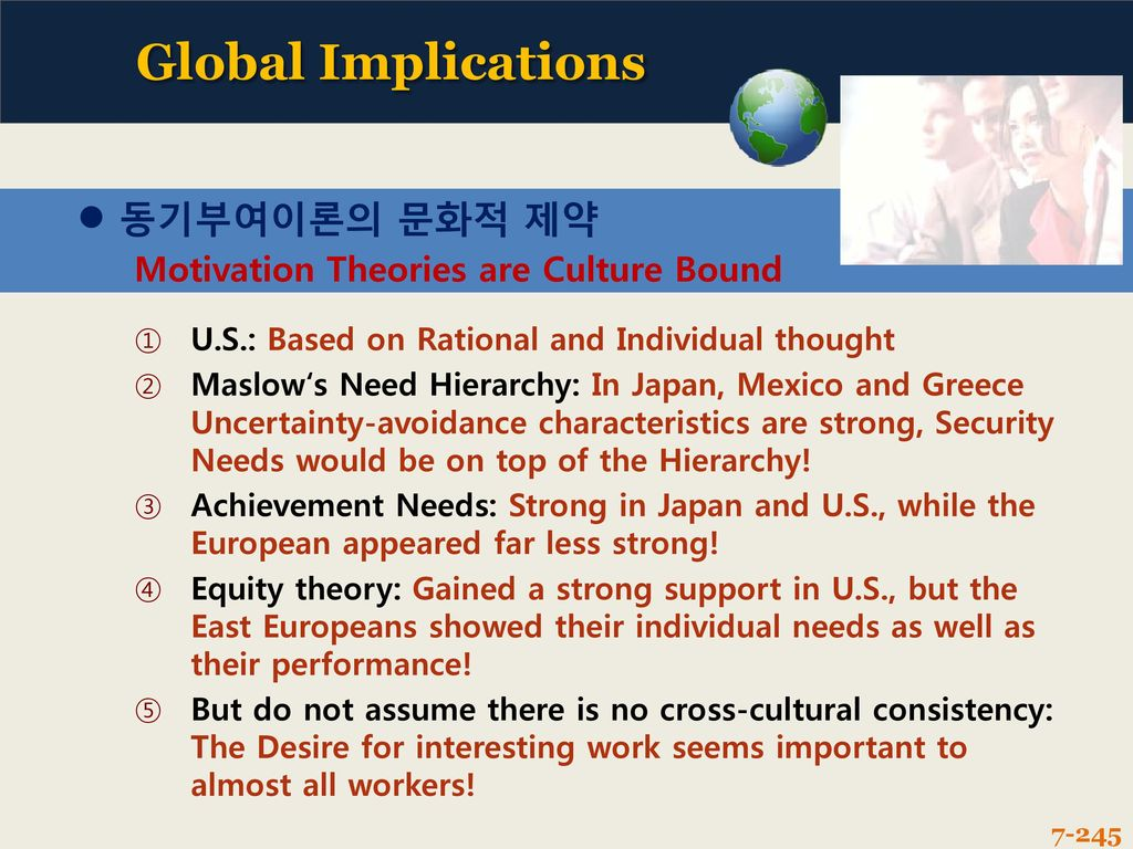 motivation is culture bound Hofstede's dimensions of cultural value and motivation:  that regions within  countries were bound together through a national identity and.