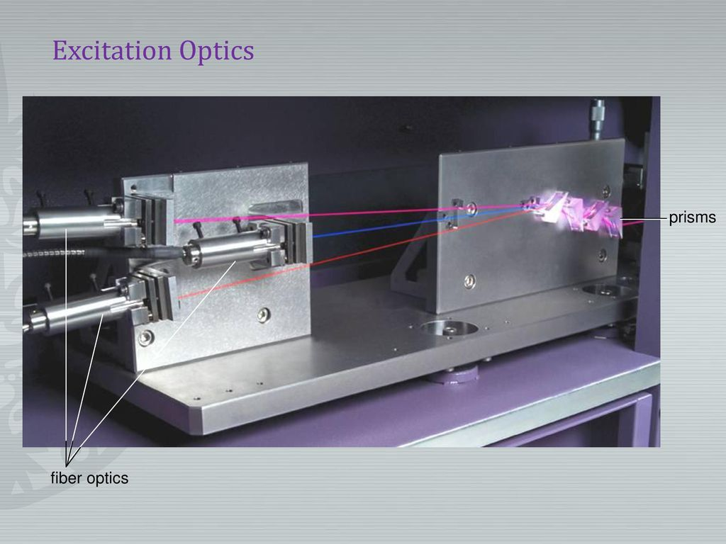 Excitation Optics fiber optics prisms