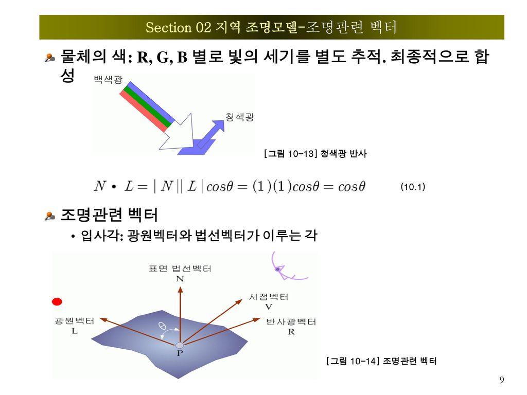 Section 02 지역 조명모델-조명관련 벡터