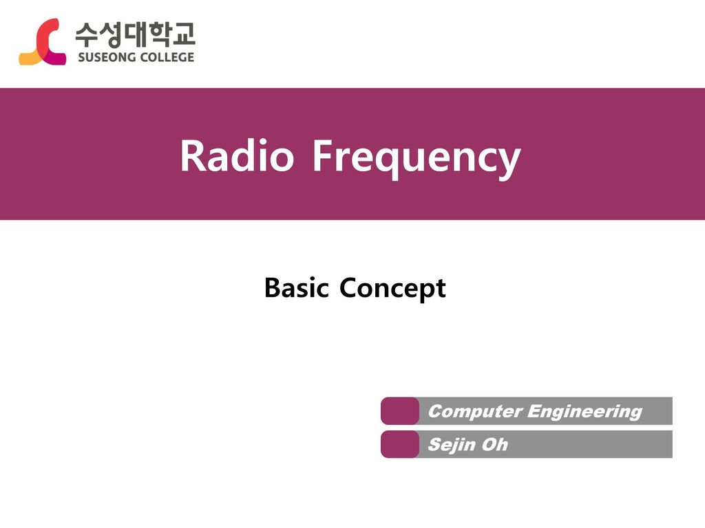 Radio Frequency Basic Concept Computer Engineering Sejin Oh