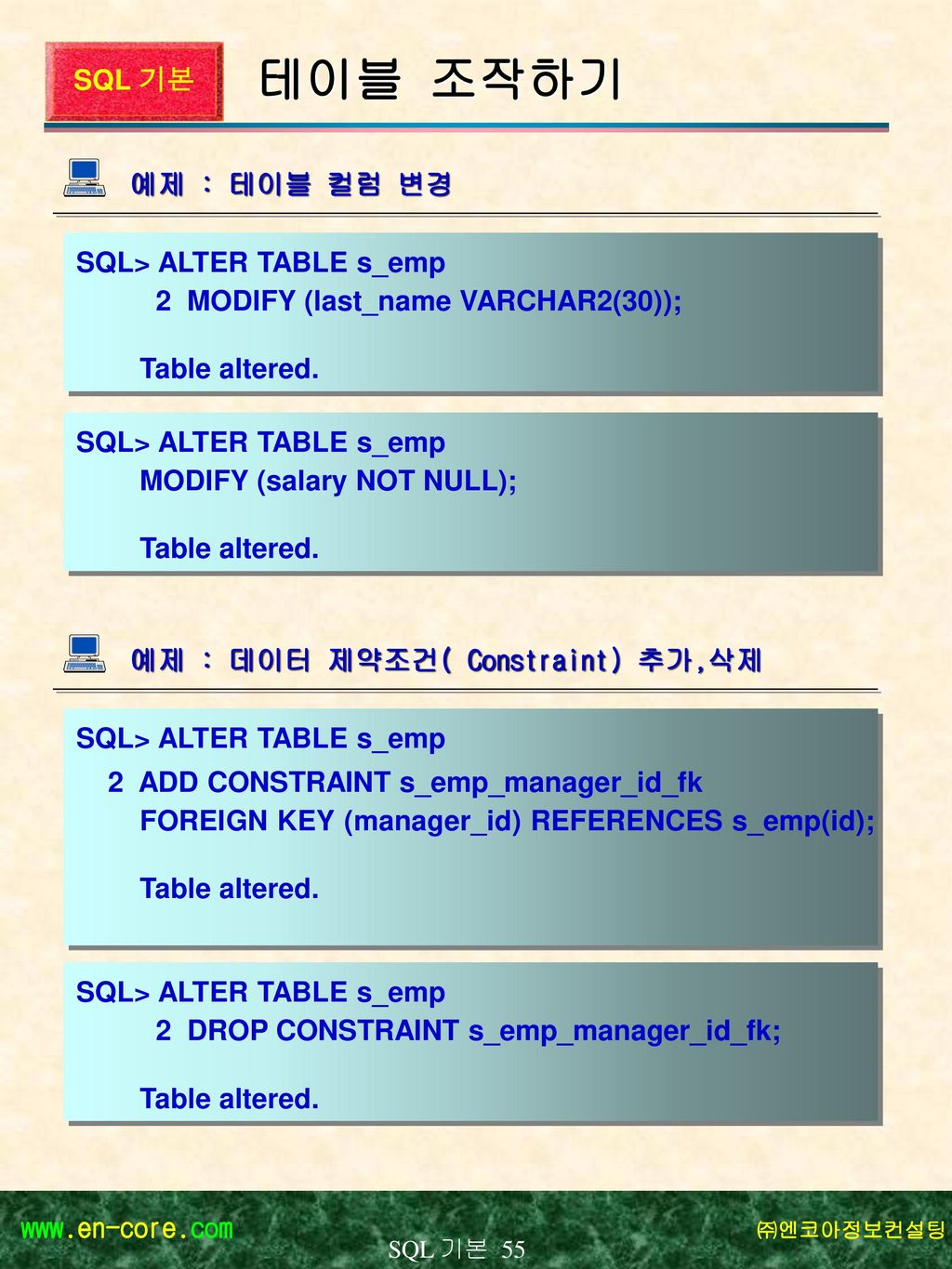S q l sql 1 ppt download - Alter table add foreign key ...