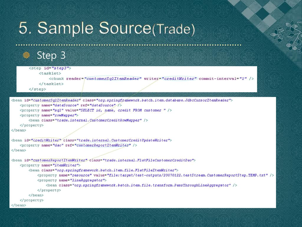 5. Sample Source(Trade) Step 3