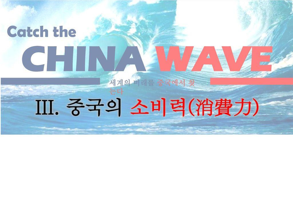 CHINA WAVE Catch the 세계의 미래를 중국에서 찾는다 III. 중국의 소비력(消費力)