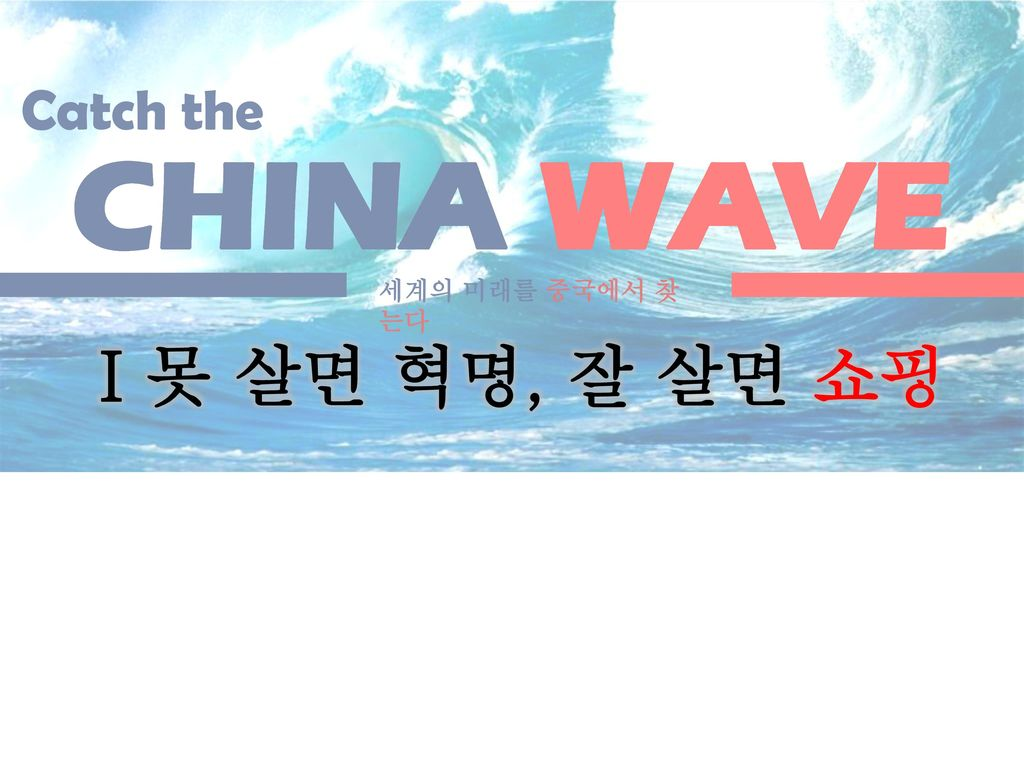 CHINA WAVE Ⅰ못 살면 혁명, 잘 살면 쇼핑 Catch the Danger Opportunity 2010 2011
