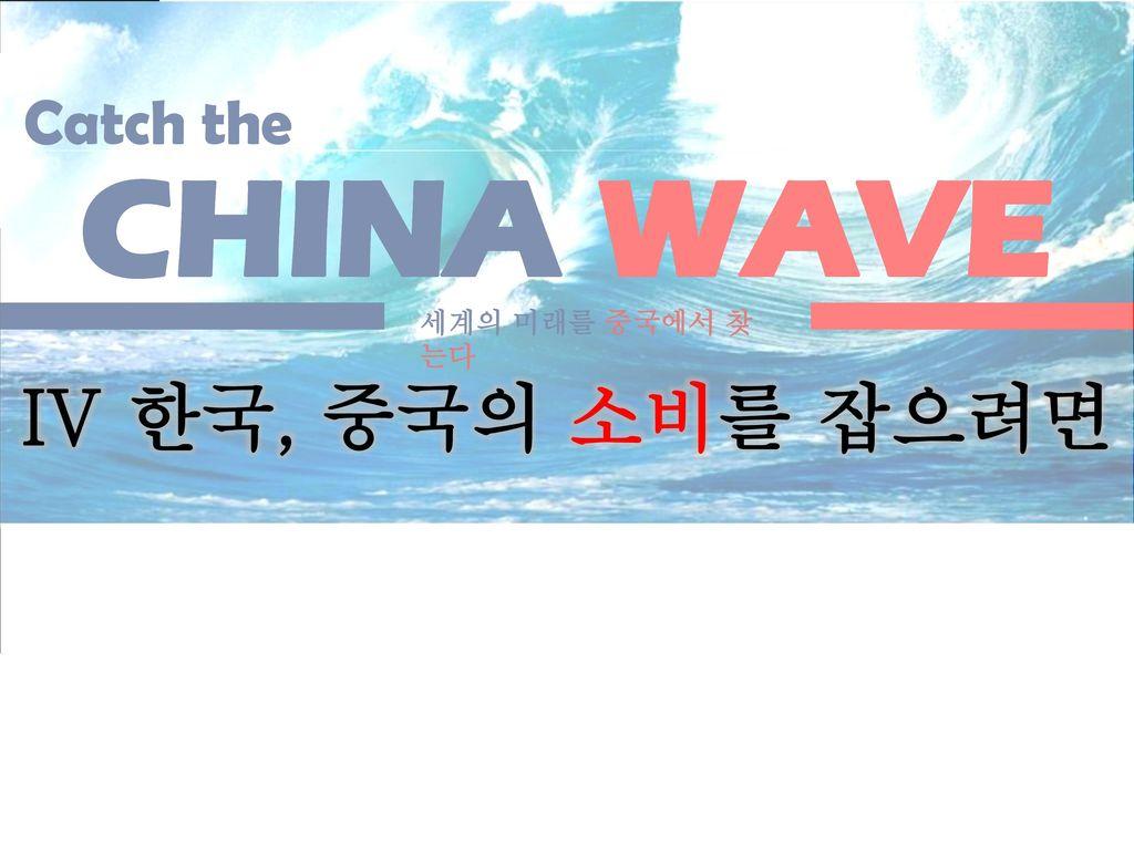 CHINA WAVE IV 한국, 중국의 소비를 잡으려면 Future & Culture Catch the