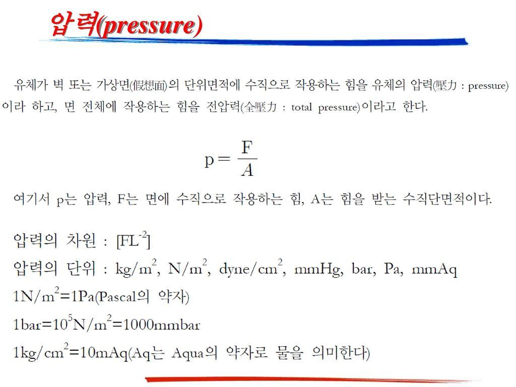압력(pressure)