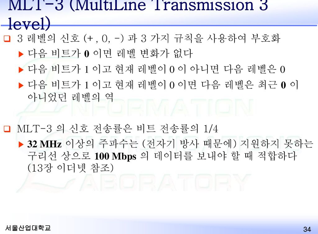 MLT-3 (MultiLine Transmission 3 level)