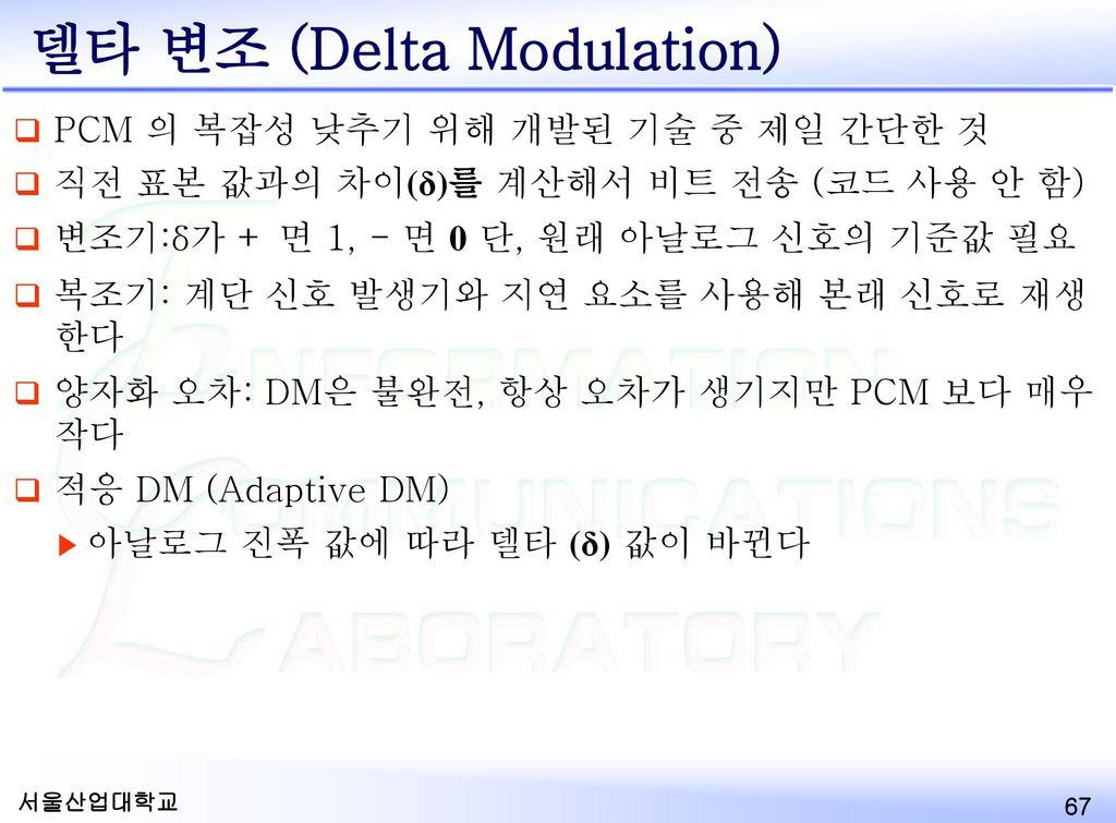 델타 변조 (Delta Modulation)