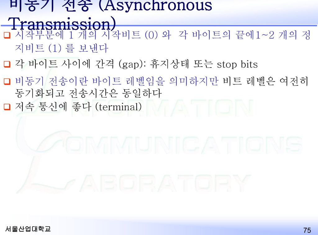 비동기 전송 (Asynchronous Transmission)