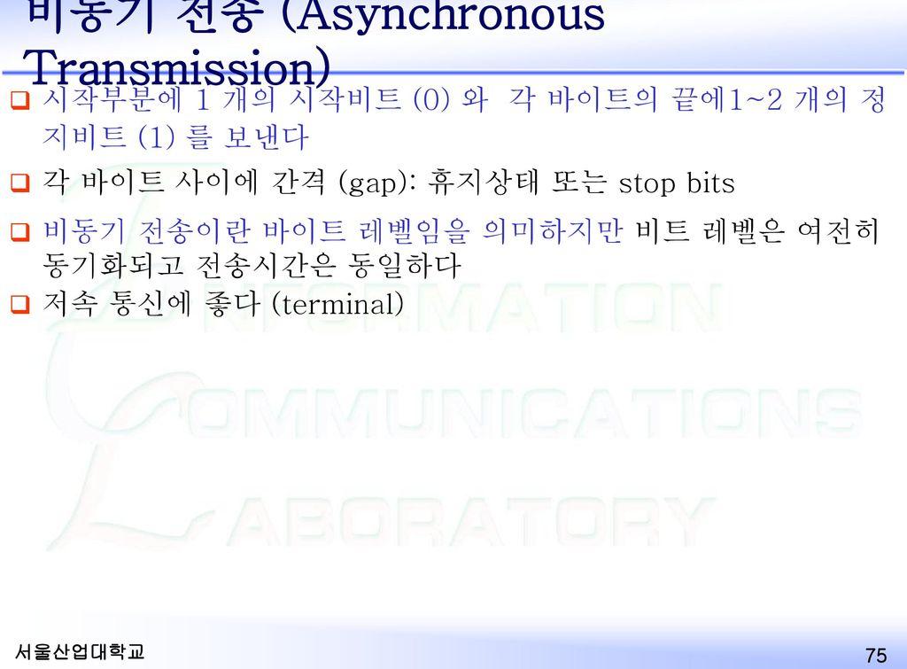 비동기 전송 (Asynchronous Transmission)