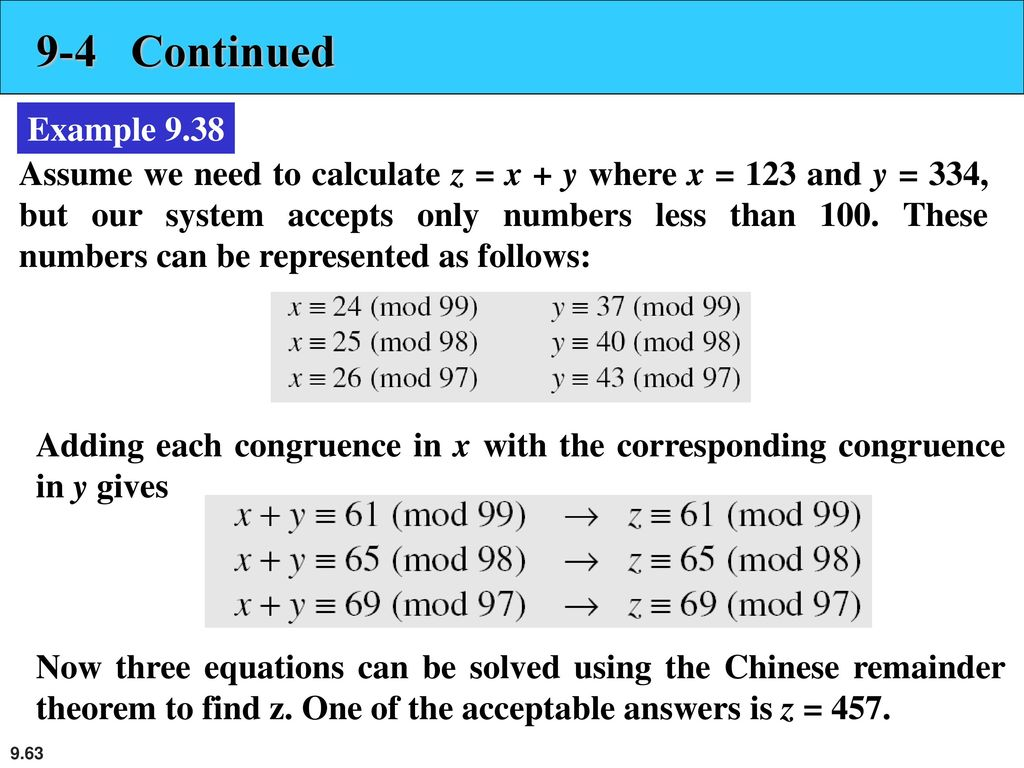 9-4 Continued Example 9.38.