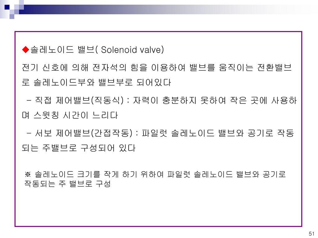 솔레노이드 밸브( Solenoid valve)