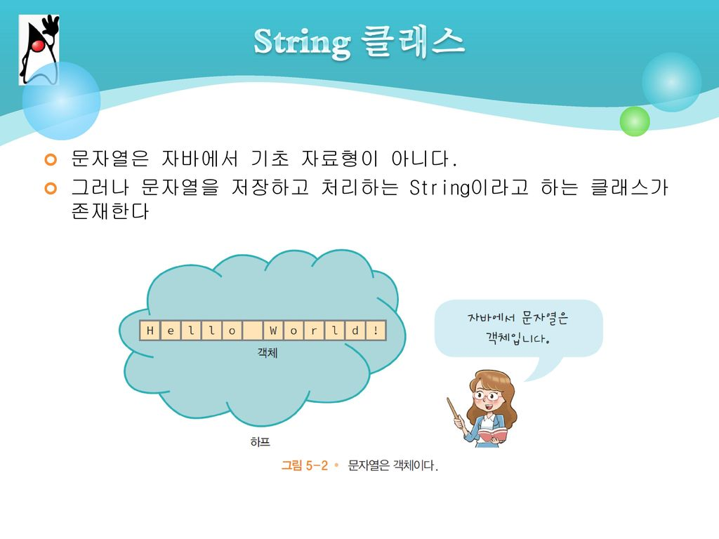 String 클래스 문자열은 자바에서 기초 자료형이 아니다.