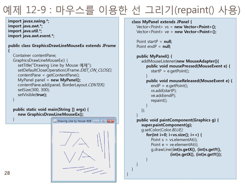 Drawing Lines In Jpanel : 명품 java programming ppt download
