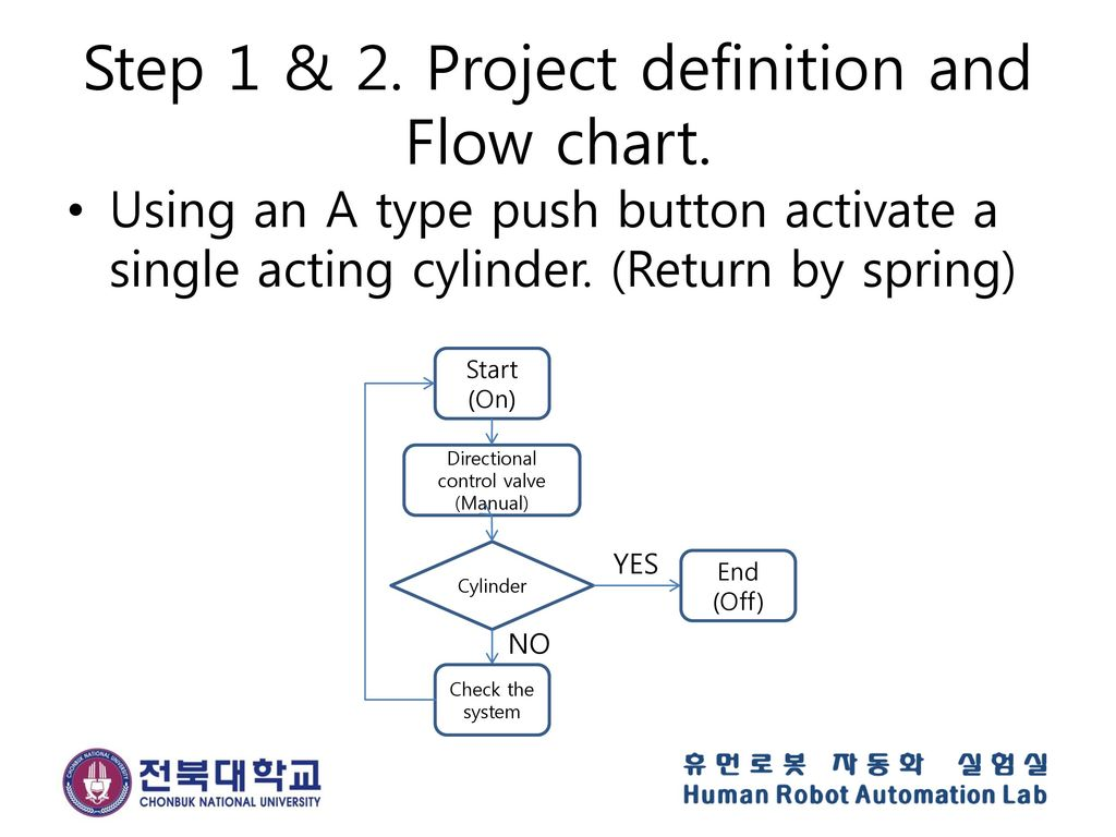 Step 1 & 2. Project definition and Flow chart.