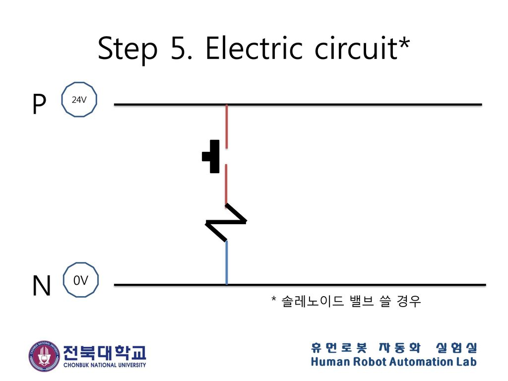 Step 5. Electric circuit*