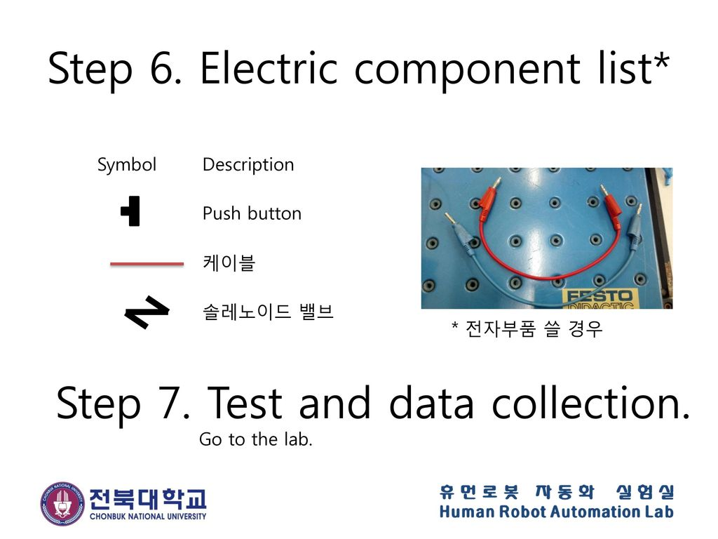 Step 6. Electric component list*
