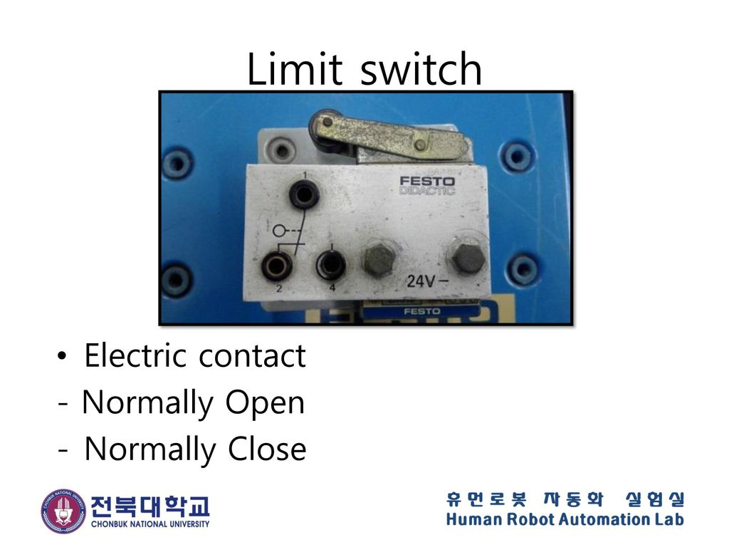Limit switch Electric contact - Normally Open Normally Close