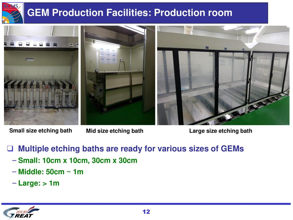 GEM Production Facilities: Production room