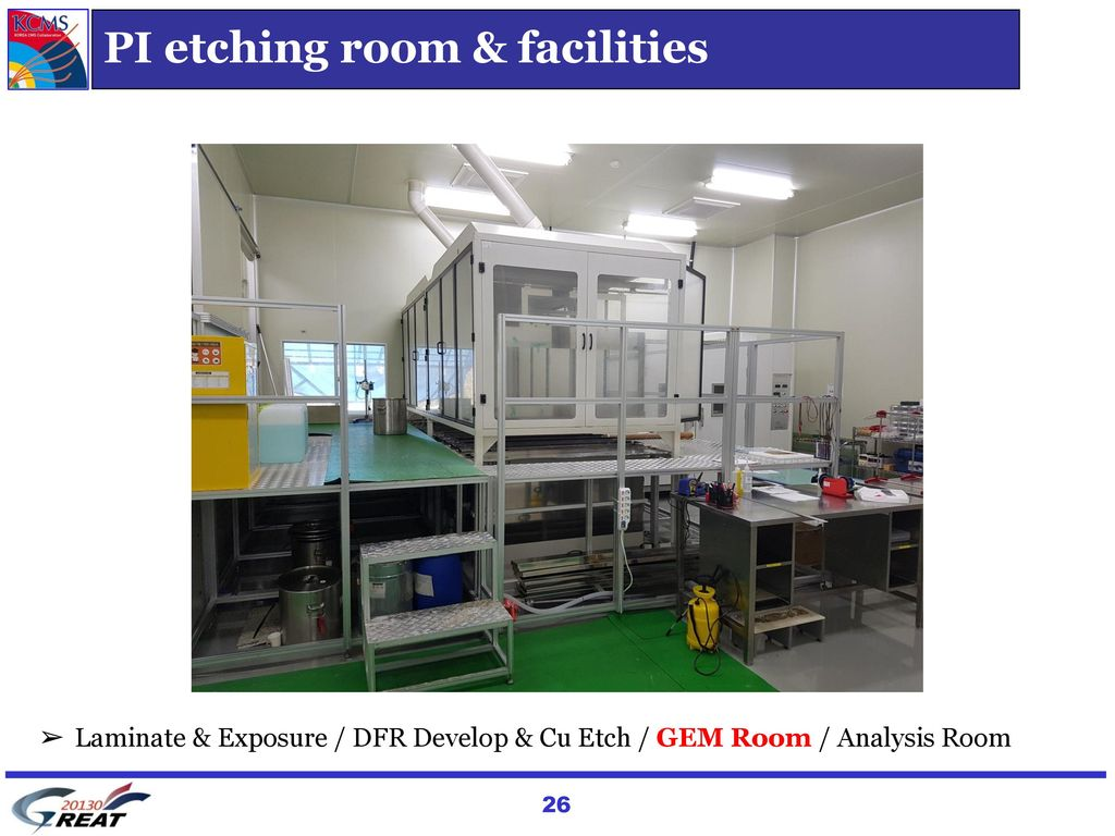 PI etching room & facilities