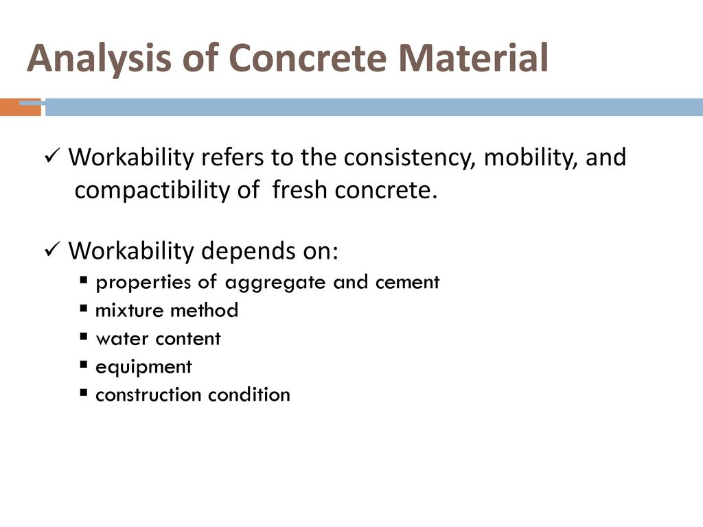 Analysis of Concrete Material