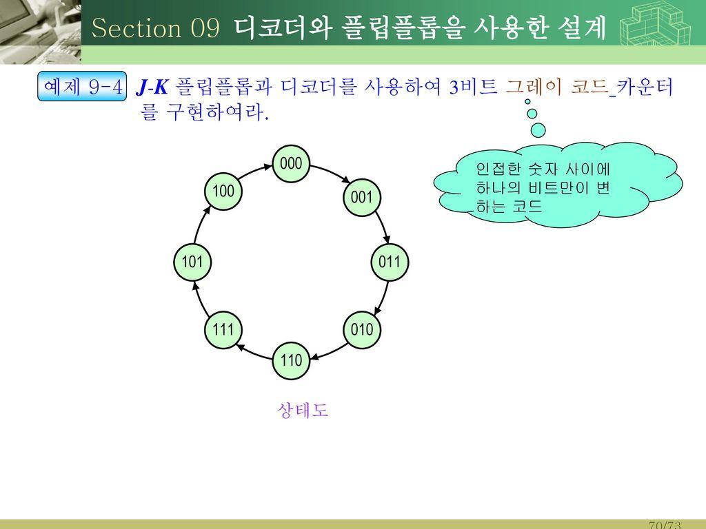 Section 09 디코더와 플립플롭을 사용한 설계