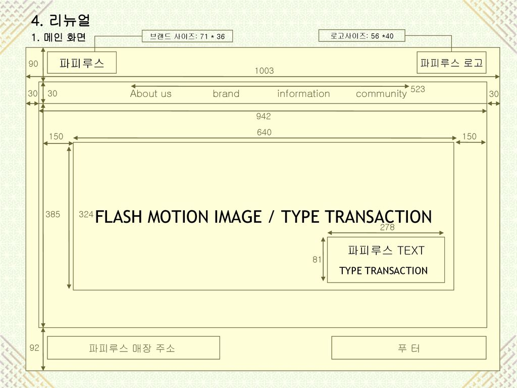 FLASH MOTION IMAGE / TYPE TRANSACTION
