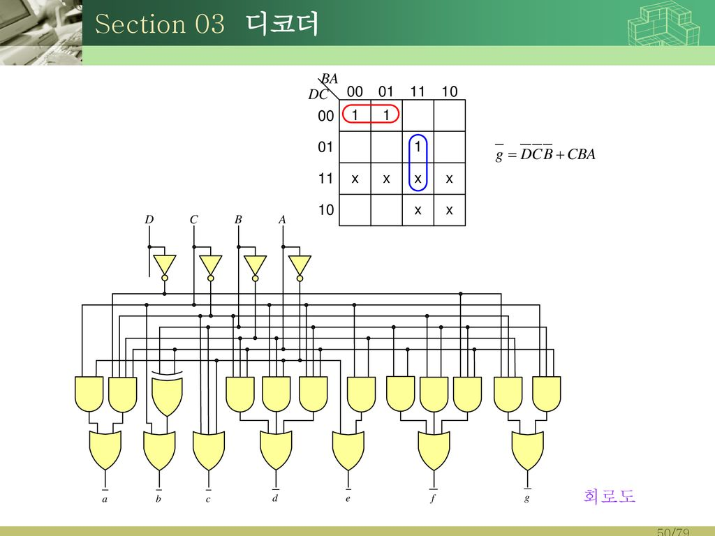 Section 03 디코더 회로도