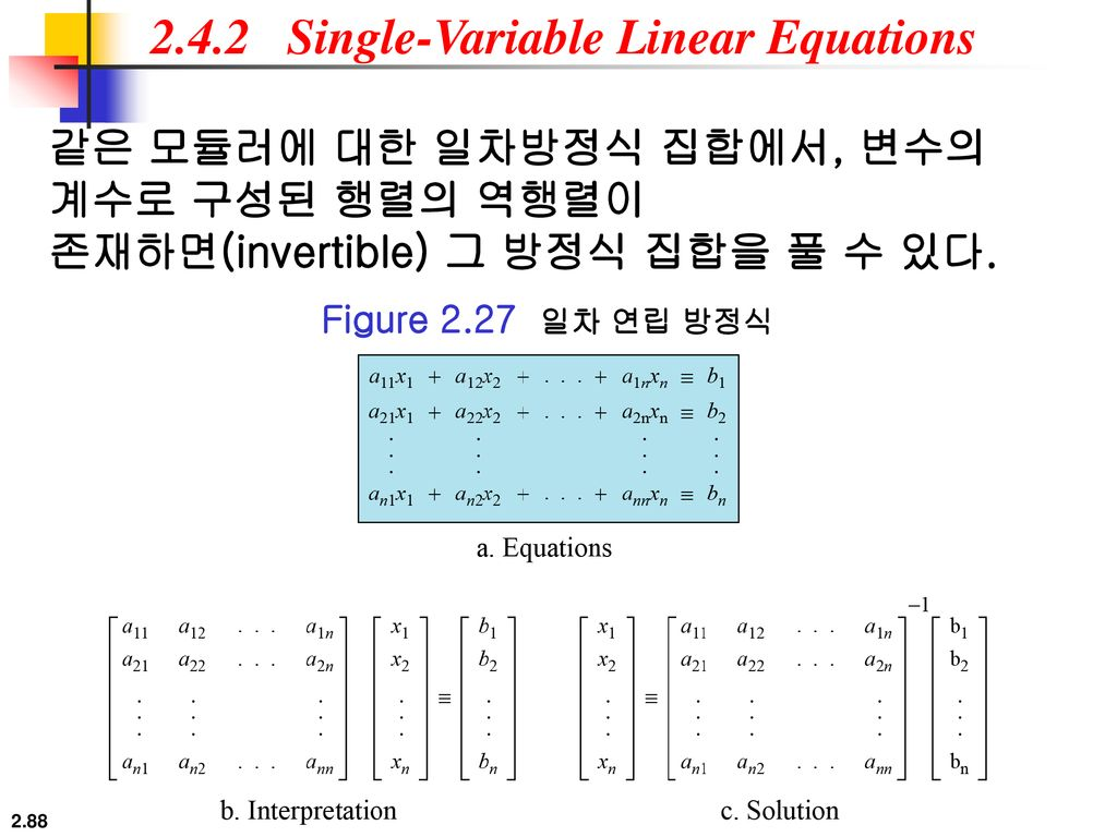 2.4.2 Single-Variable Linear Equations