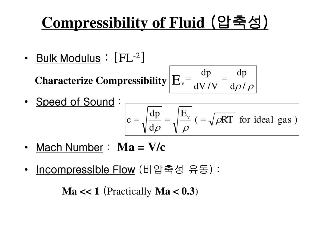 Compressibility of Fluid (압축성)