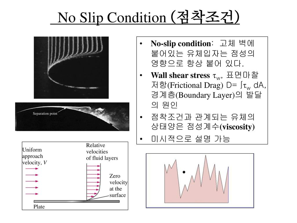 No Slip Condition (점착조건)