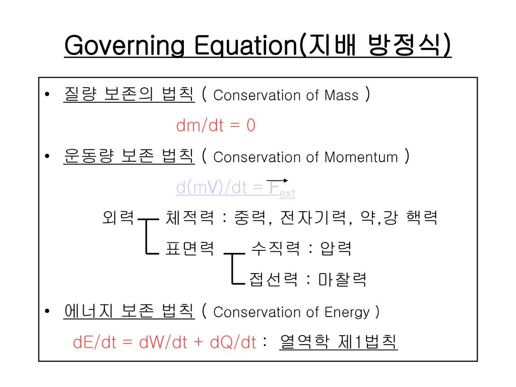 Governing Equation(지배 방정식)
