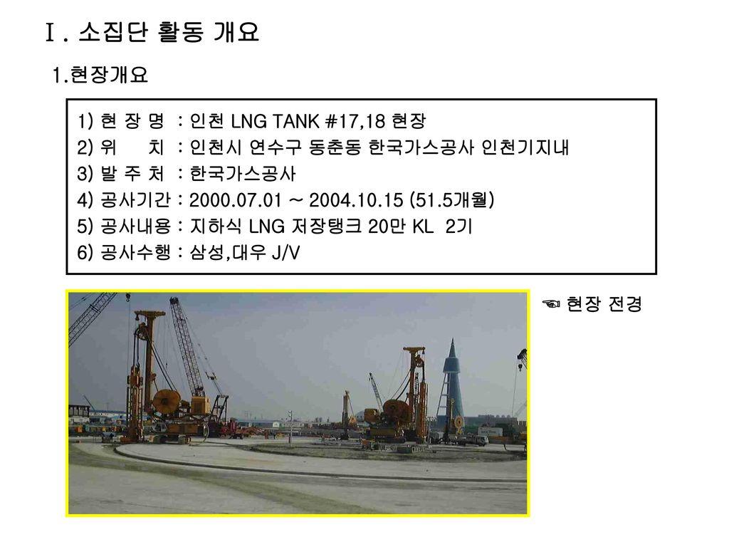 『소집단 활동 사례』 한번에 정밀굴착 Bo팀 Bc Cutter Operator 인천 Lng Tank