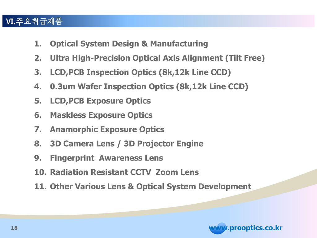 Optical System Design & Manufacturing