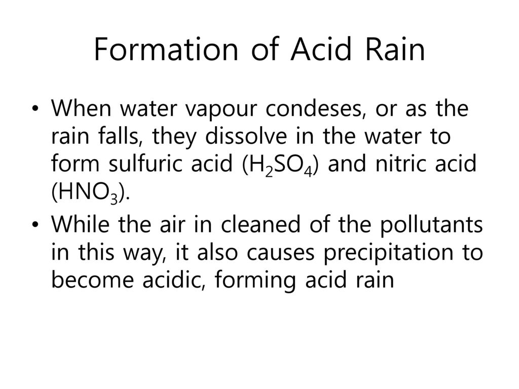 Formation of Acid Rain