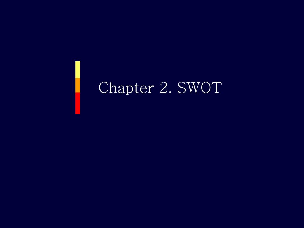 Chapter 2. SWOT