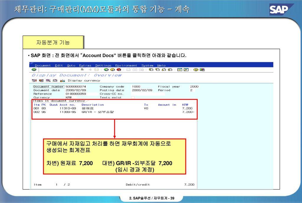 SAP FI (재무회계) 솔루션 소개 Contents  - ppt download