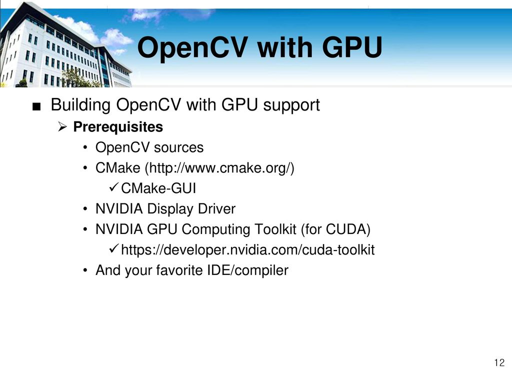 CUDA & OpenCV Programming - ppt download