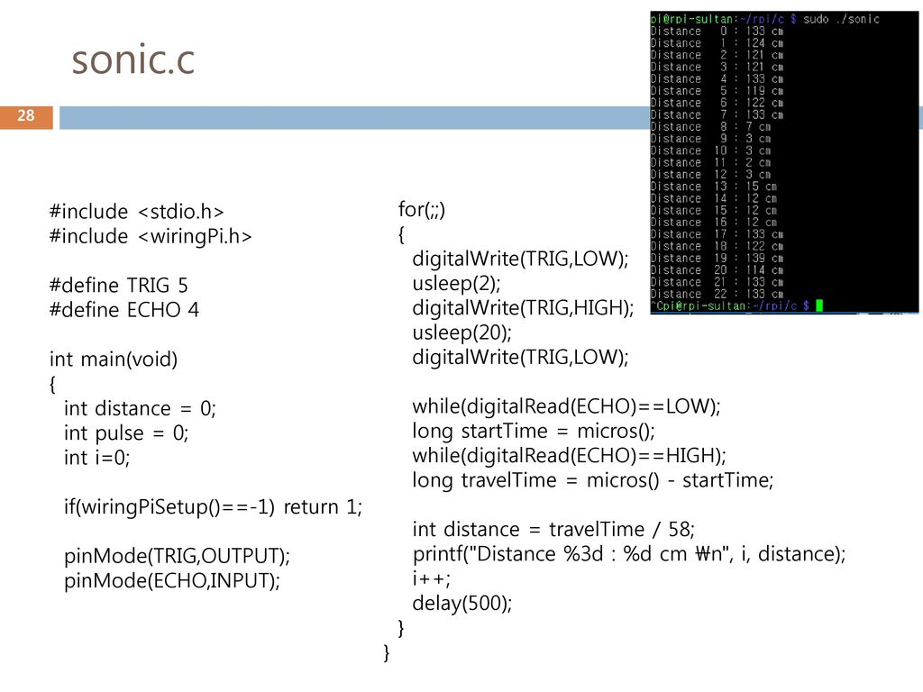 Iot 2016 2 3 Gpio Ppt Download Wiringpi H Location Sonicc For Include Stdioh