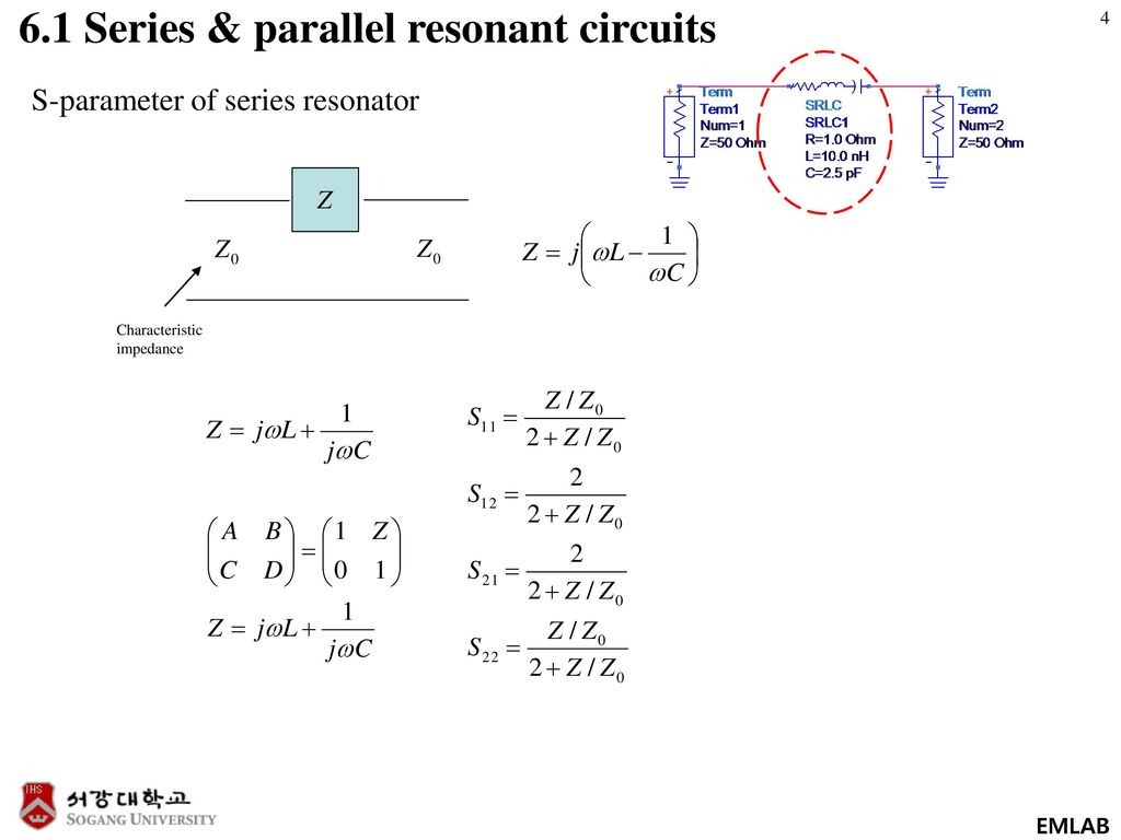 Chapter 6 Microwave Resonators Ppt Download Impedance In A Parallel Resonance Circuit 61 Series Resonant Circuits