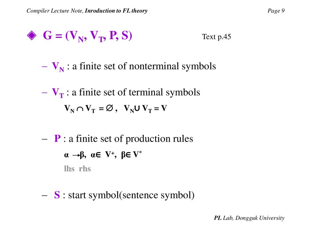 Compiler Lecture Note Inroduction To Fl Theory Ppt Download