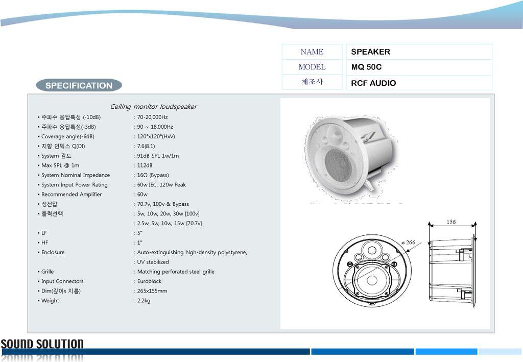 Ceiling monitor loudspeaker - ppt download