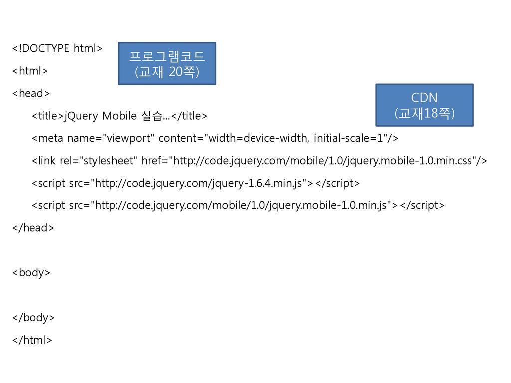 jQuery Mobile을 이해하기 전에 jQuery가 무엇인지 알아야 한다  - ppt